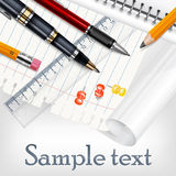 Stationery for school Royalty Free Stock Photos