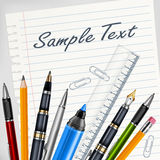 Stationery for school Stock Photography