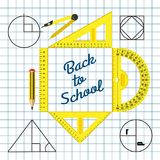 Of stationery for schoolchildren. A set of stationery for schoolchildren, goods for creativity and study, Back to school Stock Photo