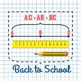 Stationery for schoolchildren. A set of stationery for schoolchildren, goods for creativity and study, Back to school Royalty Free Stock Images