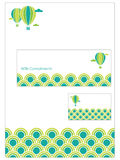 Stationery set. Green stationery set with letterhead, compliment slip and business card Stock Images