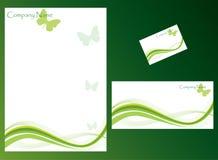 Stationery set. Ecology stationery set. More ecology images in my portfolio Stock Images