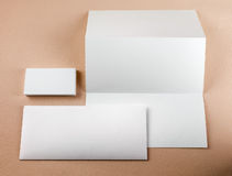 Stationery set on color background Stock Photo