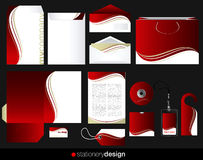 Stationery set design Royalty Free Stock Images