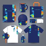 Stationery set design / Gift set template. stock illustration