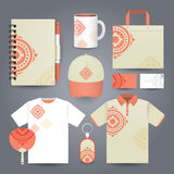 Stationery set design / Gift set template. Stock Images