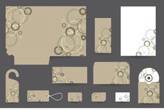 Stationery set design Stock Photography