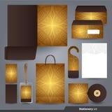 Stationery set design / Stationery set template. stock illustration