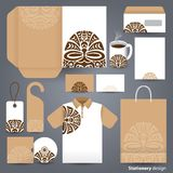 Stationery set design / Stationery set template. Stock Photos