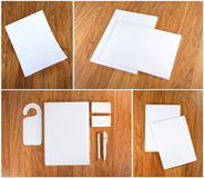 Stationery set design. Stationery template. Corporate identity. Stock Images