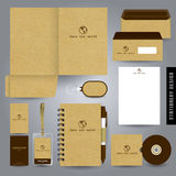 Stationery set design / Stationery template. Royalty Free Stock Images