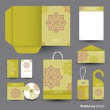 Stationery set design. Royalty Free Stock Images