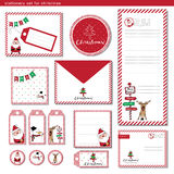 Stationery set Merry Christmas Royalty Free Stock Image