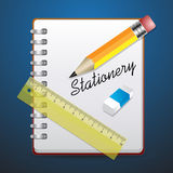 Stationery set notebook Royalty Free Stock Images