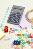 Stationery set of objects Stock Images