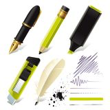 Stationery set for office Royalty Free Stock Photo