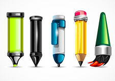 Stationery set for school. On white background Royalty Free Stock Images