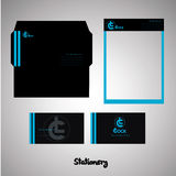 Stationery set. Simple stationery set for your company Stock Photo