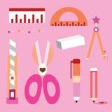 The stationery set stock illustration