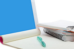Stationery set with touch screen tablet Royalty Free Stock Images