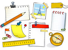 Stationery set Stock Photos