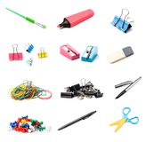 Stationery set on white royalty free stock photo