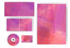 Stationery set for your design Stock Images