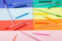 Stationery in a sideways Royalty Free Stock Image