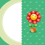 A stationery with a smiling flower Stock Photo
