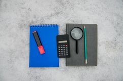 Stationery in the snow royalty free stock image