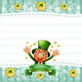 A stationery for St. Patrick's day with an old man Stock Image