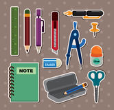 Stationery stickers vector illustration
