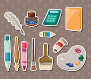 Stationery stickers Stock Image
