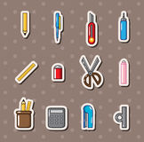 Stationery stickers Stock Photos