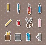 Stationery stickers Stock Photos