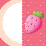 A stationery with a strawberry Royalty Free Stock Photo