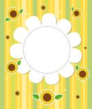 A stationery with sunflowers Royalty Free Stock Photos