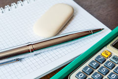 Stationery on the table Stock Image