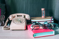 Stationery and telephone Stock Image