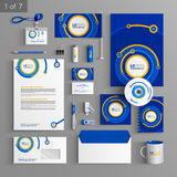 Stationery template design Stock Photo