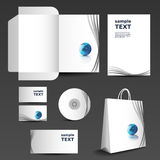 Stationery template design - business set Royalty Free Stock Images