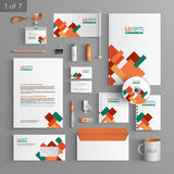 Stationery template design Royalty Free Stock Photography