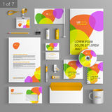 Stationery template design Stock Photography
