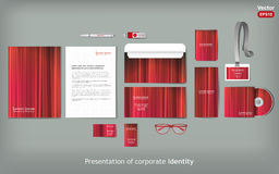 Stationery template design. Royalty Free Stock Images