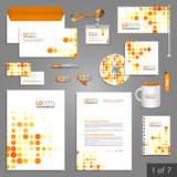 Stationery template design Stock Photos