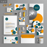 Stationery template design Royalty Free Stock Image