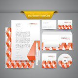 Stationery Template Zigzag Royalty Free Stock Photos