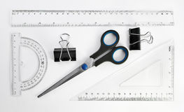 Stationery tools. Little set of simple stationery tools Royalty Free Stock Photo
