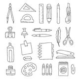 Stationery. Vector icons Stock Photography