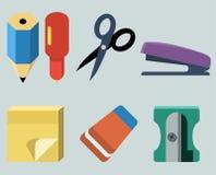Stationery. Vector isolated set of stationery stock illustration